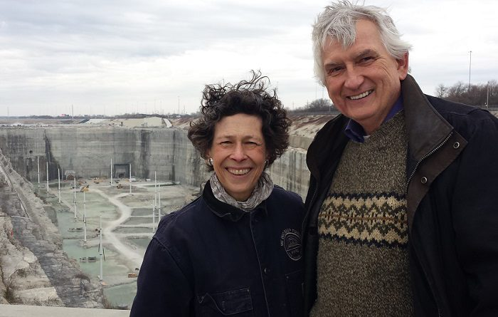 Debra Shore and Mike Nowak at McCook Reservoir